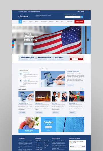 Candidate - PoliticalNonprofitChurch WordPress Theme