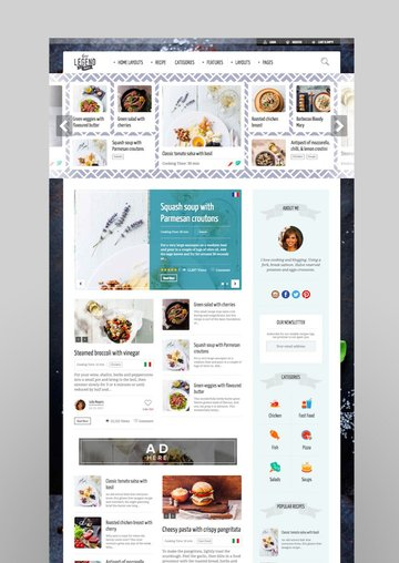 Neptune - Theme for Food Recipe Bloggers Chefs