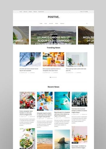 Positive - Blog News Magazine WordPress Theme