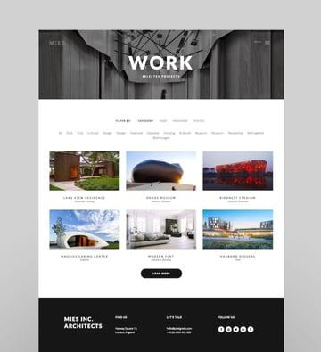 MIES - An Avant-Garde ArchitectureWordPress Theme