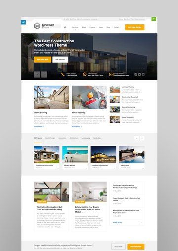 StructurePress - Construction andArchitecture WordPress Theme