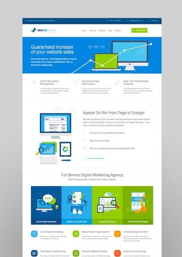 SEO WP WordPress Theme for Digital Marketing Social Media SEO Agencies