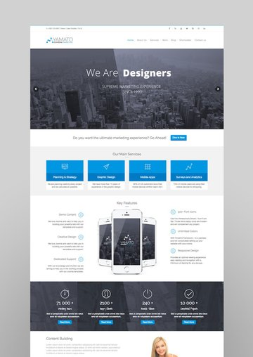 YAMATO - Corporate MarketingWordpress Theme