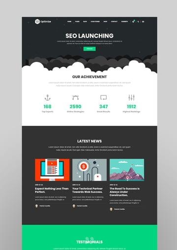 Optimize - SEO Digital Marketing Social Media Theme