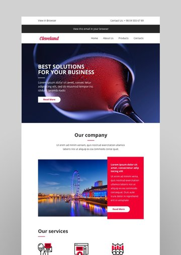 Cleveland Email-Template  Online Builder