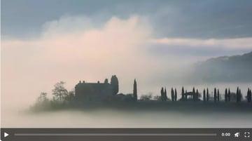 Dense Morning Fog in Tuscany