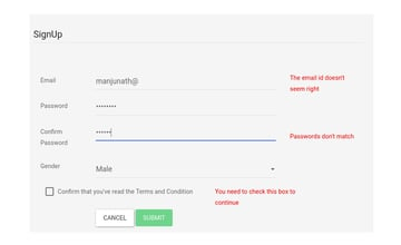 Form with Validation using Template-driven forms