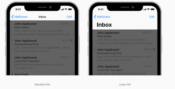 Large title bars on the iPhone X Navigation Bar source iOS Human Interface Guidelines