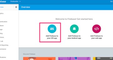 Add Firebase to your iOS app
