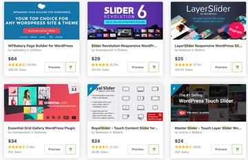 Mejores y más vendidos plugins de WordPress para slider y carrusel disponibles en CodeCanyon