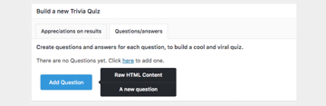 Add Question Viral Quiz