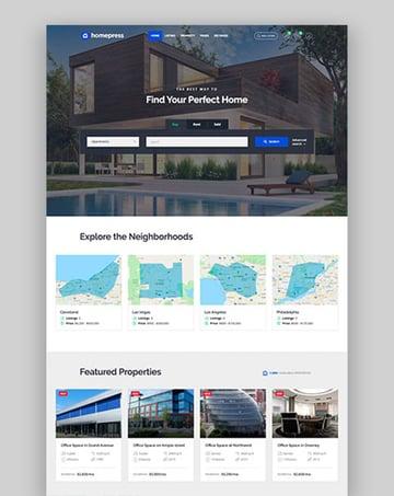 HomePress - Tema de WordPress para inmobiliaria