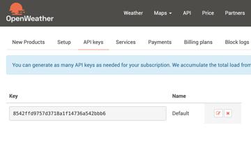 Getting OpenWeather API key