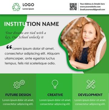 Free Printable Flyer Design Template Creative School Admission