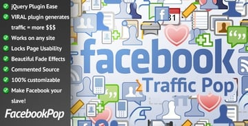 Facebook Traffic Pop for WordPress