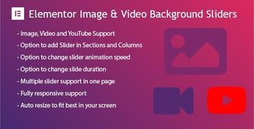 Slider de fondo de imagen y vídeo para Elementor