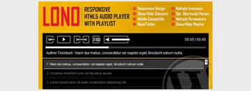 Lono - Responsive HTML5 Audio Player