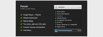 Panzer - HTML5 Audio Player and Playlist