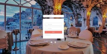 Restaurant login form