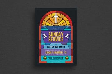 Sunday Service Church Flyer