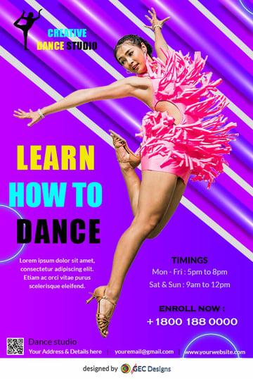 Creative Dance Studio Flyer