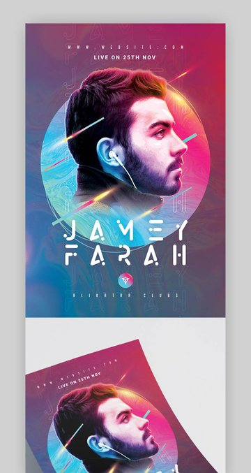 Colorful Modern Party Flyer