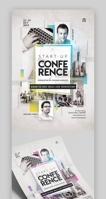 Modern Startup Conference Flyer