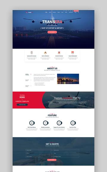 Transera Logistics Transportation WordPress