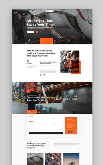 Logisti - Logistics  Transport WordPress Theme