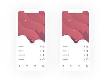 Weather App UI Design Screens