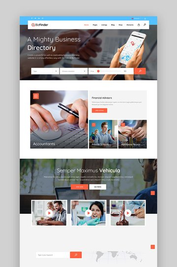 BizFinder - Business Directory Theme