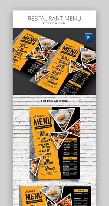 Modern Restaurant Menu