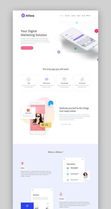 Alfena - WordPress SaaS Template for Startup