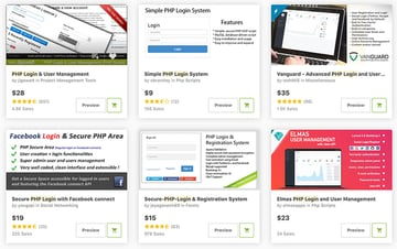 Best-Selling PHP Login Forms available on CodeCanyon