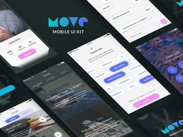Move iPhone App Template Free Download