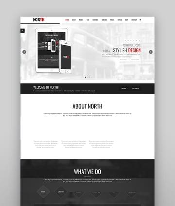 North - One-Page Parallax WordPress Theme