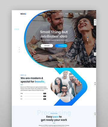 Nimmo - One-Page WordPress