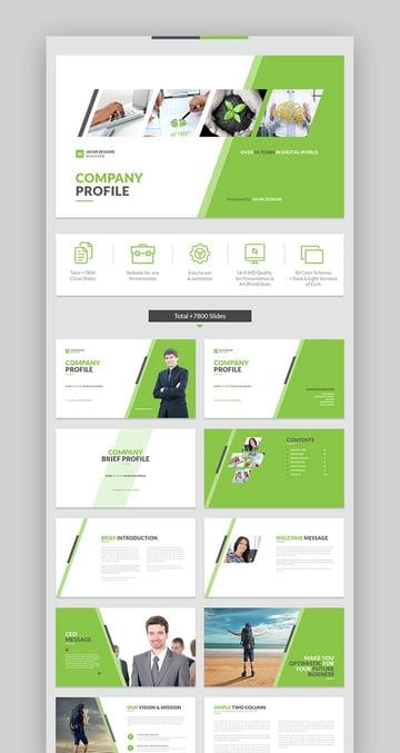 Versatile Company Profile PowerPoint Template