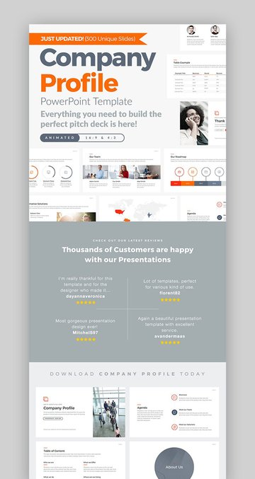 Modern Company Profile PowerPoint Template