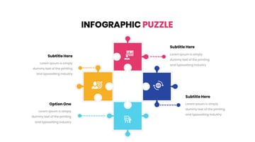 Puzzle Infographic Powerpoint Template