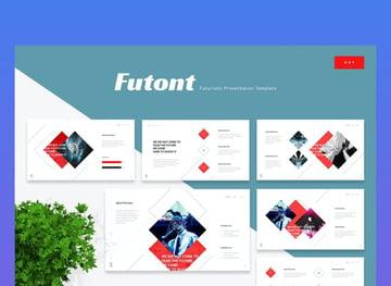 Futont futuristic template PowerPoint