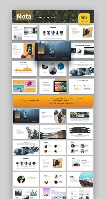 Mota With Backgrounds for Google Slides
