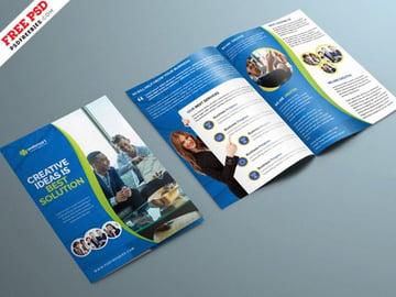 Corporate BiFold Brochure PSD Template