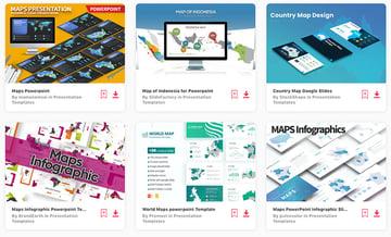 Editable Map PowerPoint Templates - Envato Elements