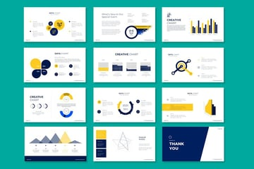 Colored graphs and charts