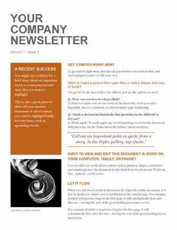 Company Newsletter Free