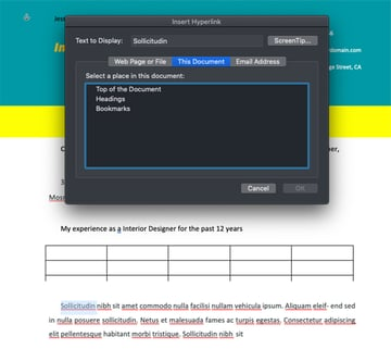 Adding Hyperlinks