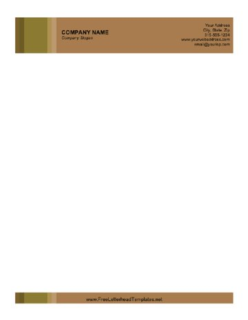 Business Letterhead with Brown background