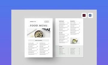 Food Menu MS Word
