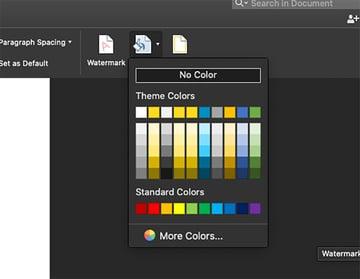 Page Color